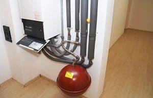 Gasheizung, Gas, Heizung, Rohre, Anschlüsse, Verknüpfungen