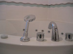Badarmaturen, Dusche, Wasserhahn, Temperaturregler