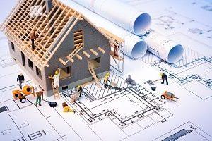 Haus, Bau, Gebäude, Blaupause