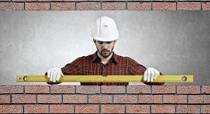 Maurer, Backstein, Bau, bauen