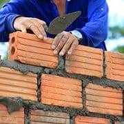 aufbauen, Ziegelstein, Mauer, Arbeiter, Bauhandwerker, Keller, Wände