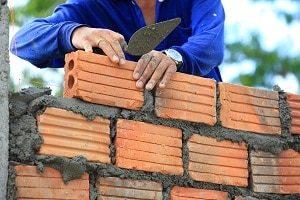 aufbauen, Ziegelstein, Mauer, Arbeiter, Bauhandwerker