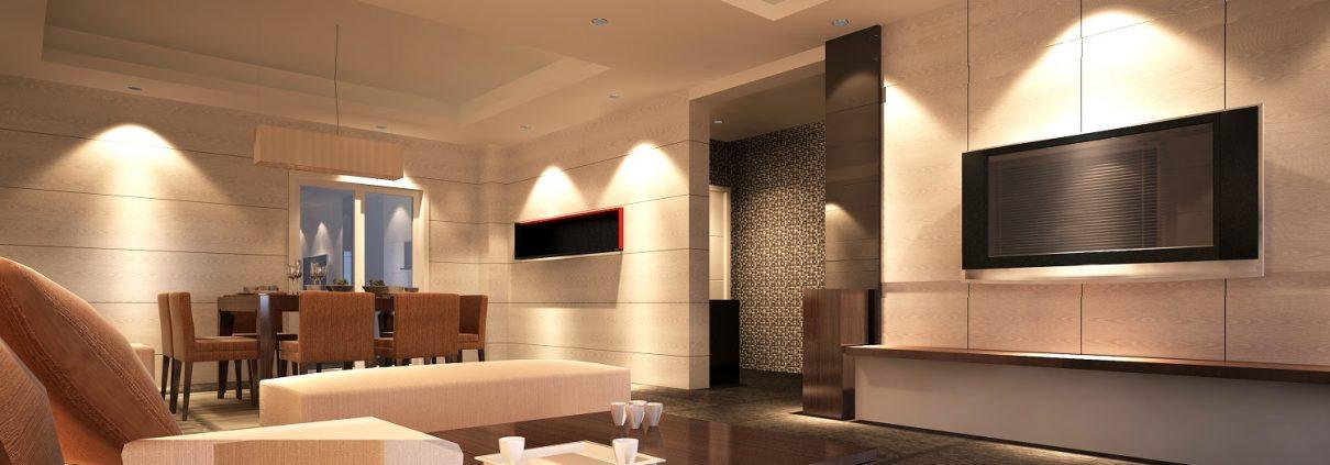 appartement, heiter, gemütlich, beleuchtung, modern
