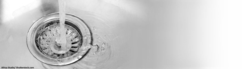 Gulli, Küchenspüle, Abfließen, Wasser, Wasserstrahl, Wasserhahn