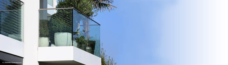 Balkon, Glas, Eigenheim, modern