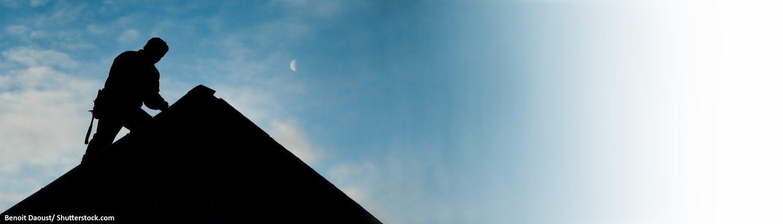 Dach, Dachdecker, Reperatur, Arbeiter
