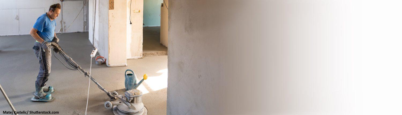 Boden, Arbeiter, Fussboden, bauen, Zement