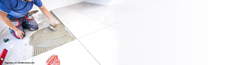 Belegen, Boden, Fußboden, Bodenbelag, Fliesenleger