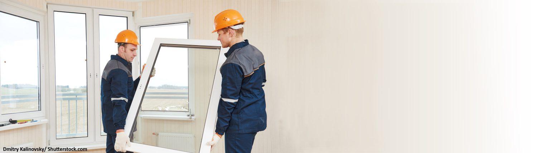 Fenster, Glaser, Arbeiter, Bau, Baustelle