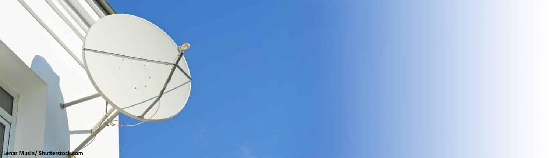 Satellit, Parabolantenne, Teller, Haus, Fassade, Empfangsgerät