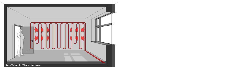 Architektur, Heizung, Inneres, Raum