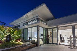 Luxus, Haus, modern, Ansicht