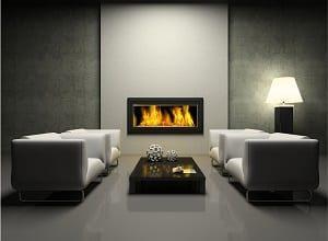 modern, Möbel, 3d, Zimmer