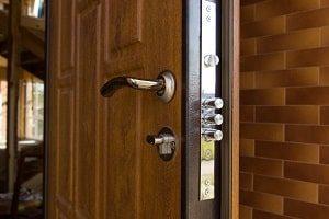 Tür, sicher, zuverlässig, abschließen