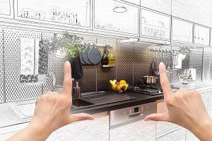 Entwurf Küche, Spüle, Spülmaschine, Geschirrspüler, Planung Küche