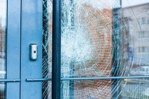 Glas, zerbrochen, Fenster, Sicherheit