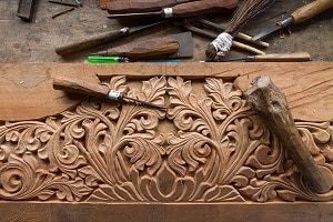 Holz, Handwerker, Design, Kunstwerk