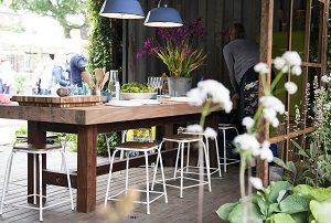 Sommer, Stuhl, Blume, draußen