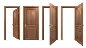 Tür, offen, Holz, aufmachen