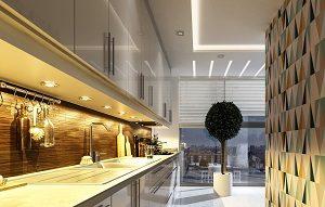 modern, 3d, Architektur, Design