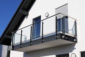 Balkon Sicht von unten