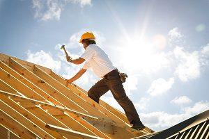 Dachdecker, Dach, Holz, Arbeiter