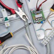 elektrisch, Techniker, Kabel, Leitung, Zähler, Verteiler
