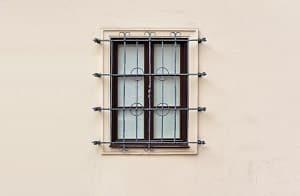Fassade, Front, Gitter, Haus