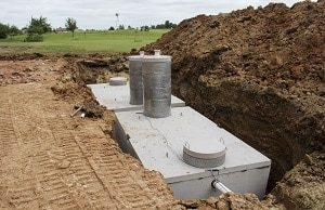 Beton, vergraben, Bau, Behälter