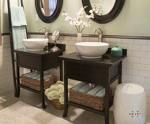 halboffen Waschtisch, Waschbeckenunterschrank schwarz, Bad
