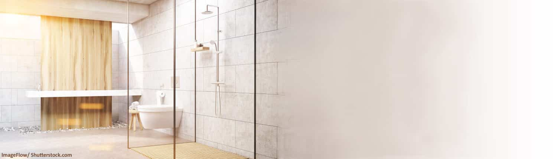 Dusche, Duschen, Brause, Glas, modern, Design, Glas, ebenerdige Dusche
