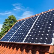 Haus, Dach, Solarpanels, Energie