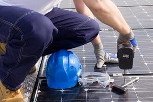 Die Solaranlage ist eine beliebte Ausstattung des Flachdachs.