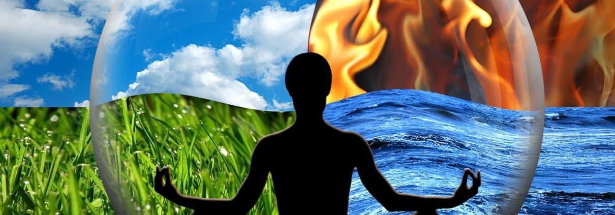 Wasser, Feuer, Erde, Luft, Elemente, Feng Shui