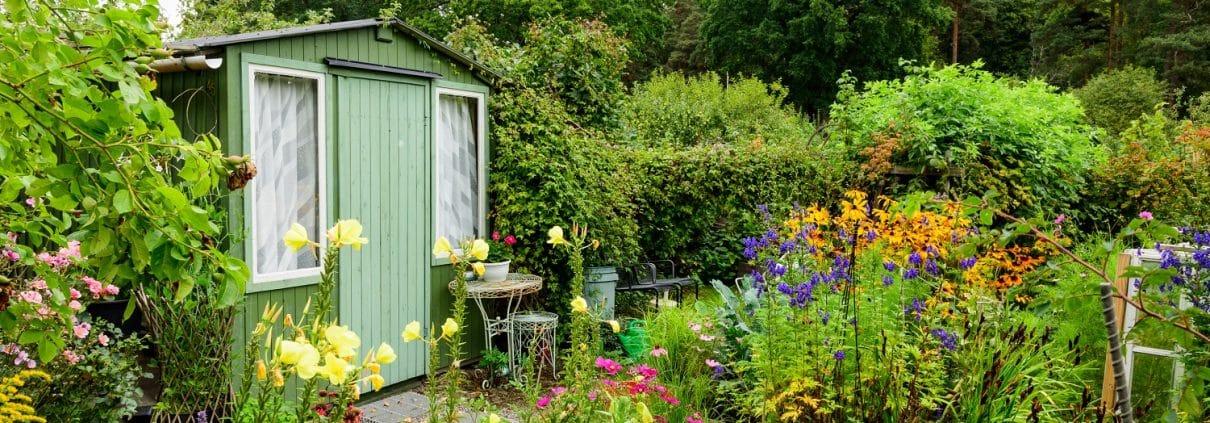 Gartenanlage, Kleingarten, Schuppen, Urban Gardening
