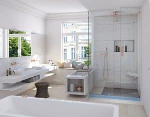 Ideen für ein neues Bad mit begehbarer Dusche finden Sie bei Tipp zum Bau.