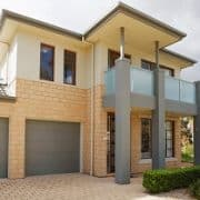 Haus, modern, Garage, beige