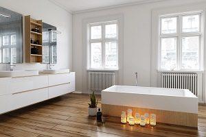 Bei Tipp-zum-Bau erfahren Sie, wie die freistehende Badewanne noch schicker wird.