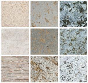 Bei der Naturstein-Verlegung sind Maserung und Farbe wichtig. Die Platten sind im besten Fall ästhetisch aneinander angepasst.