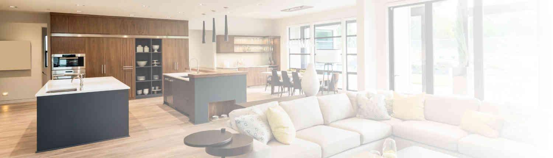 Moderne Wohnküche mit großer Küche