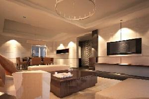 Ihr Wohnzimmer erhellt Smart Home-Licht mit gemütlicher Beleuchtung – Tipp zum Bau erörtert die Optionen.
