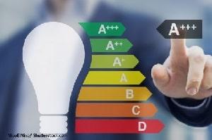 Tipp zum Bau erklärt Ihnen das Energieeffizienz-System. Wählen Sie energieeffiziente Deckenleuchten, um die Umwelt zu schonen.