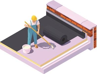 Tipp zum Bau zeigt Ihnen ein Flachdach mit Ausgleichsschicht.